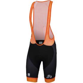 Sportful Sagan Logo Bodyfit Classic Bibshorts Herrer orange/sort